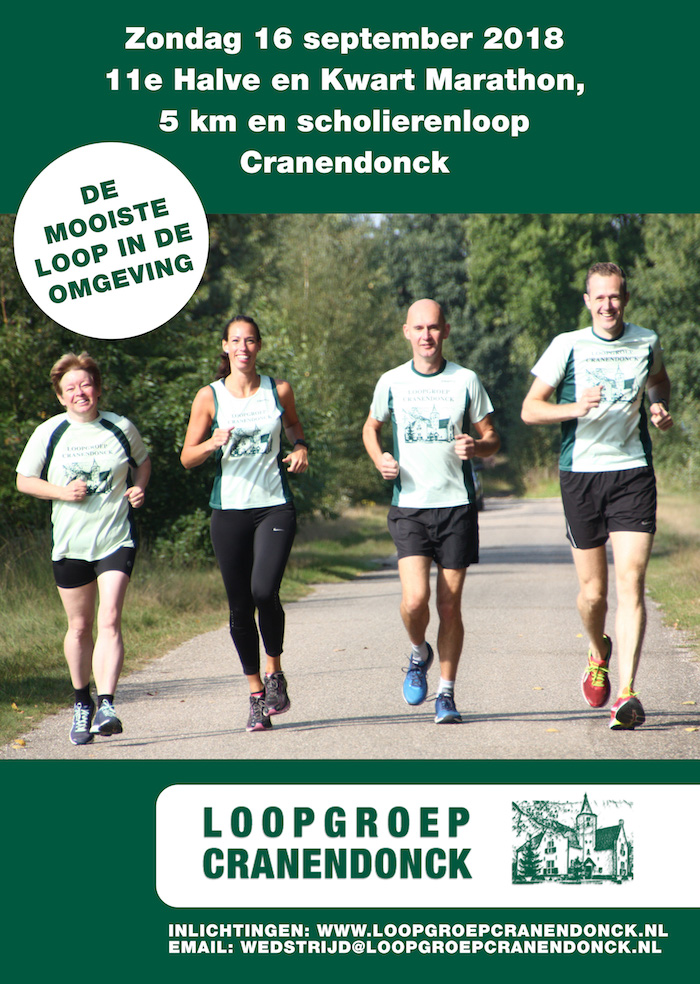 Loopgroep Cranendonck poster 2018 concept